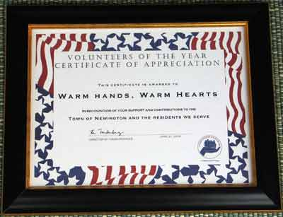 WHWH's 2004 Volunteer Award